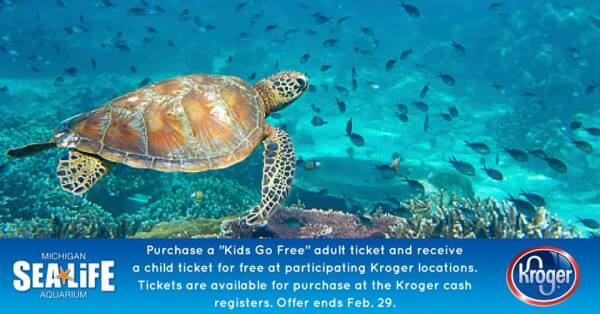 Sea Life Michigan Ticket Deal Buy 1 Get 1 Free