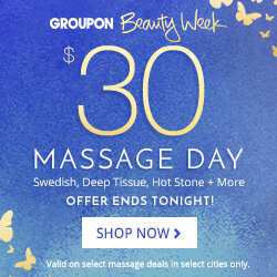 groupon massage day