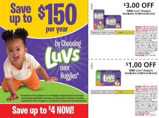 graphic regarding Luvs Printable Coupons titled Dwell, find out, buy Luvs