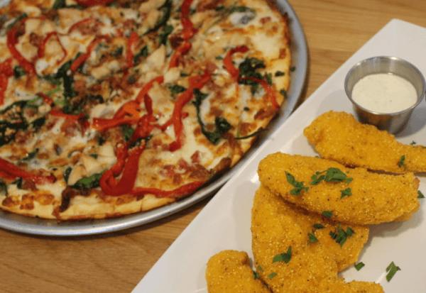 on gluten-free crust with Gluten-Free Chicken