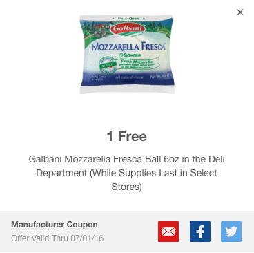 meijer mperks galbani mozzarella