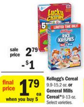 meijer kellogg's cereal