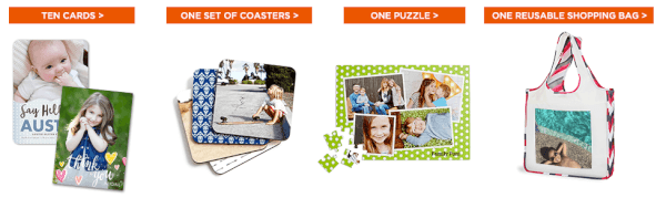 shutterfly free photo bag cards puzzle coasters