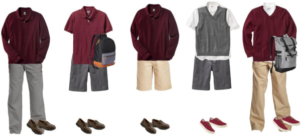 boys school uniforms from old navy mix match