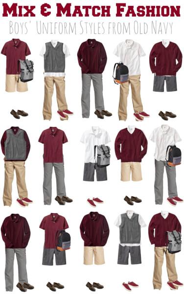 Old Navy Boys School Uniforms