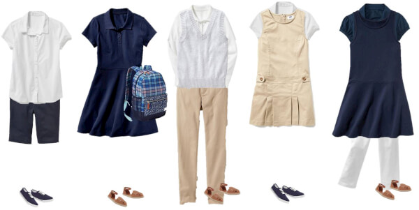 mix & match girls school uniforms old navy
