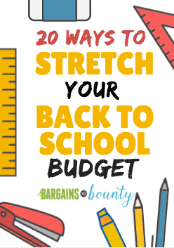 stretch back to school budget
