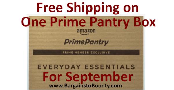 1 Prime Pantry September