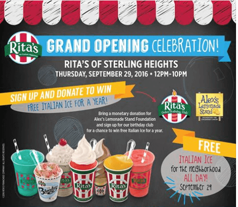 rita's ice michigan sterling heights