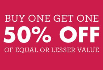 buy 1 get 1 50% off sale