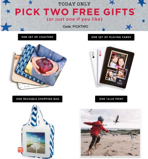 choose 2 shutterfly gifts