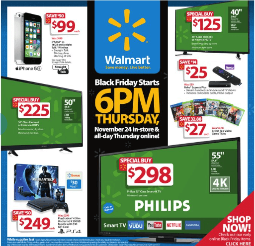 1c20f0b089 Walmart Black Friday Ad 2016 • Bargains to Bounty