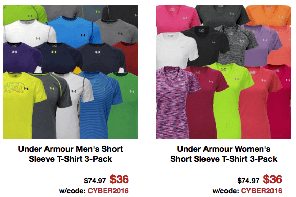 under armour shirts men women