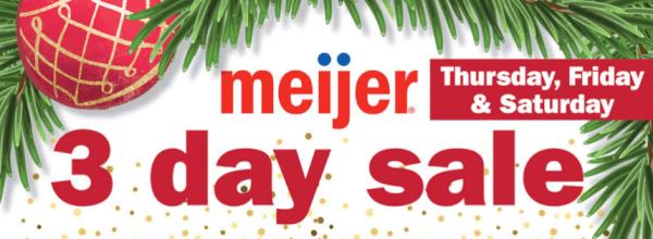 meijer 3 day sale