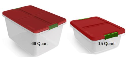 584 Hefty 15 quart AND 66 quart Storage Containers 292 each