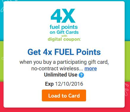 Kroger coupons 4x fuel points