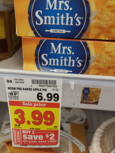 photograph about Smiths Coupons Printable named $0.50/1 Mrs. Smiths Pie Coupon: Simply just $2.49 at Kroger (reg