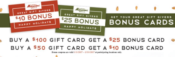 Nov 27,  · At Macaroni Grill it is believed that good taste can be a gift, so you can also opt for Gift Cards ranging from $10 to $ Bulk gift cards, for corporate organizations can also be purchased. Bulk gift cards, for corporate organizations can also be purchased.