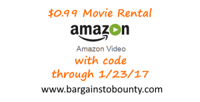 LAST DAY** Rent One Movie on Amazon for $0 99 (Through 1/23