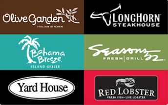 olive garden red lobster longhorn gift card