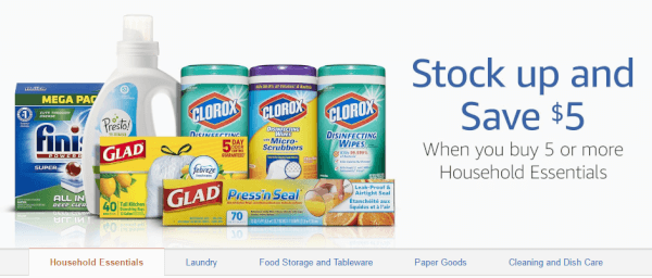 Amazon Household Deal: Buy 5 Select Items, Save $5 ...