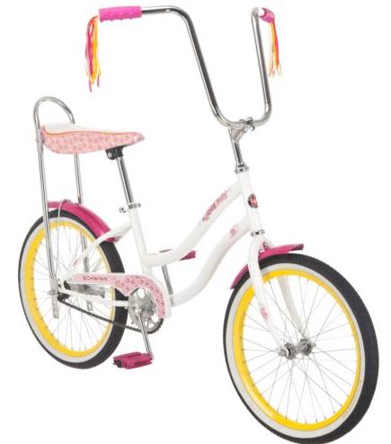 schwinn girls banana seat bike