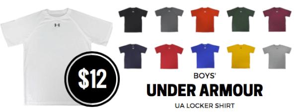 boys under armour ua locker shirt