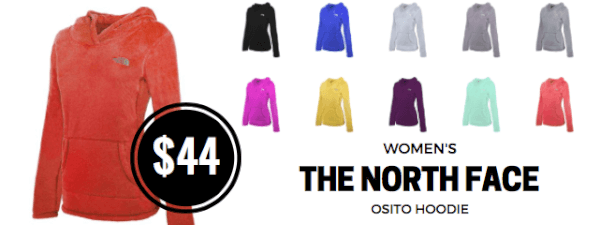 the north face women's osito hoodie