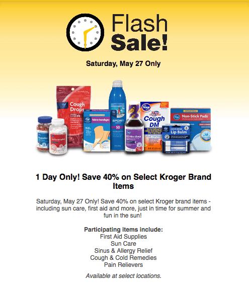 Kroger Saturday Sale
