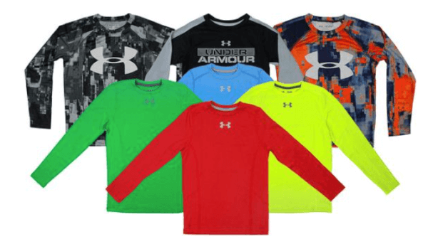 under armour boys long sleeve shirts