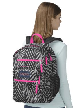 $12 99 JanSport Big Student Backpack in zebra print [free