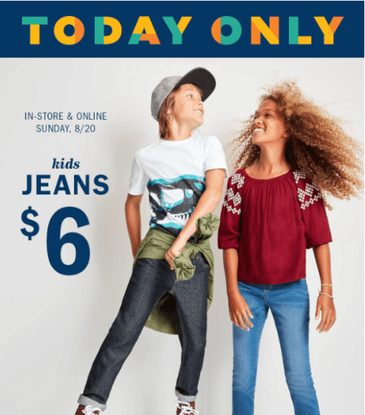 old navy sale jeans for kids