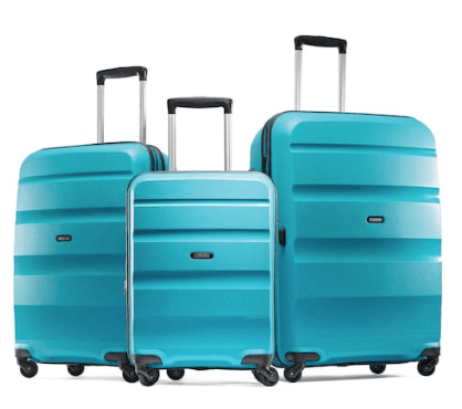 american tourists luggage