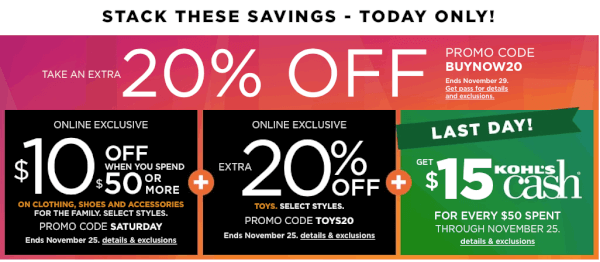 d806007f82 Kohl's: New 20% off code, $10 off $50 in apparel + earn Kohl's Cash ...