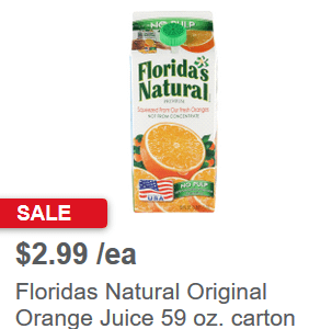 Coupons for orange juice floridas natural