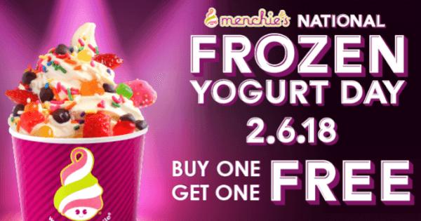 menchies national frozen yogurt day