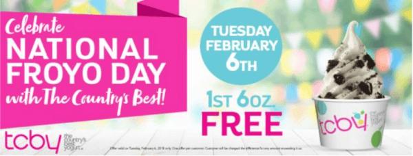 toby national frozen yogurt day
