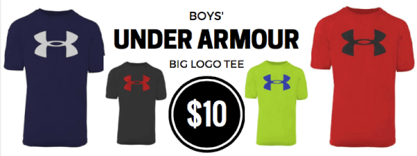 under armour big logo tees boys