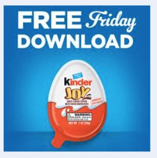 kroger coupon free kinder joy