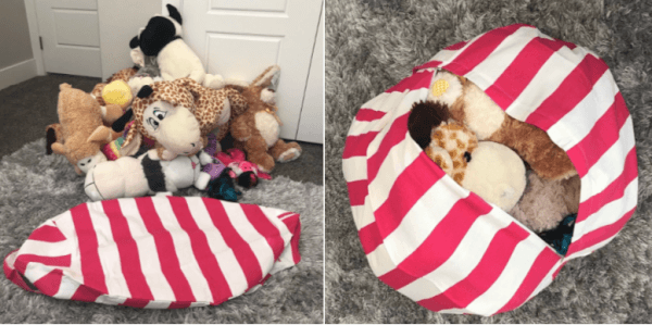 canvas stuffed animal bean bags