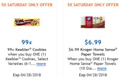 Kroger Saturday Digital Coupons 0 99 Keebler Cookies And 6 99