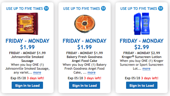 kroger digital deals memorial day
