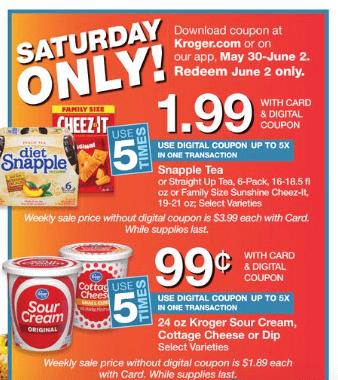 Kroger Saturday Digital Deals: June 2, 2018 • Bargains to Bounty