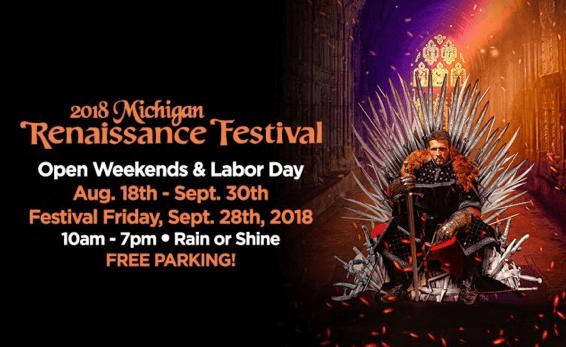 michigan renaissance festival ticket deal