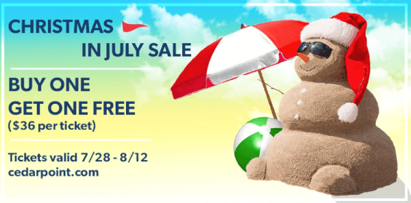 Christmas In July Free Image.Cedar Point Ticket Deal Buy 1 Get 1 Free Christmas In