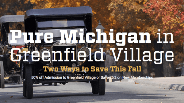 greenfield village discounts