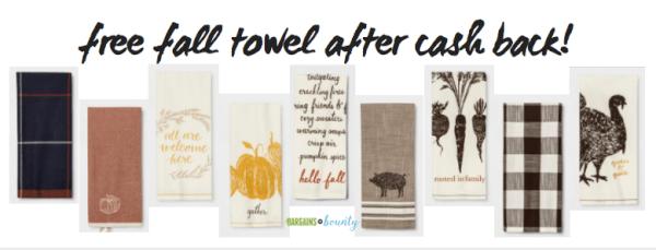 free after cash back target fall dish towel