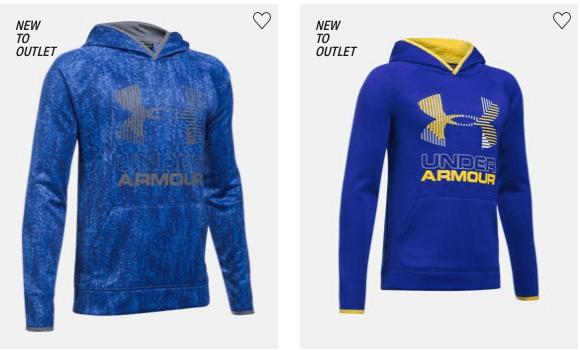under armour big logo hoodie