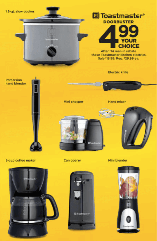 toastmaster appliance deals