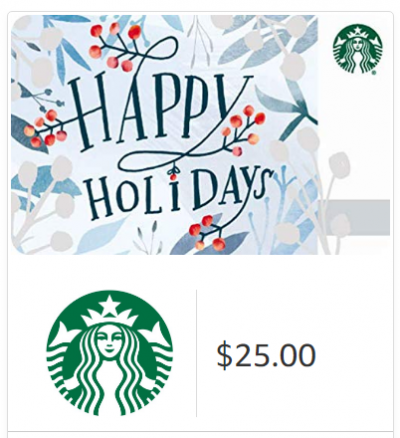 Buy $25 in Starbucks Email Delivery Gift Cards, Get $5